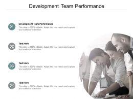 Development Team Performance Ppt Powerpoint Presentation Infographic Template Samples Cpb