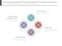 Developmental Judgment Planning Diagram Ppt Background Designs