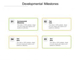 Developmental Milestones Ppt Powerpoint Presentation Inspiration Visual Aids Cpb