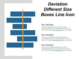 Deviation Different Size Boxes Line Icon