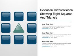 Deviation Differentiation Showing Eight Squares And Triangle