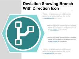 Deviation Showing Branch With Direction Icon