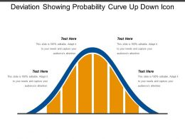 Deviation Showing Probability Curve Up Down Icon