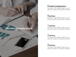 Deviation Unemployment Ppt Powerpoint Presentation Infographics Slideshow Cpb