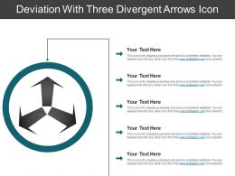 Deviation With Three Divergent Arrows Icon