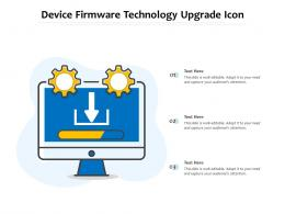 Device Firmware Technology Upgrade Icon