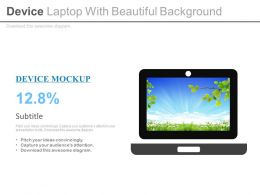 Device Laptop With Beautiful Background Flat Powerpoint Design