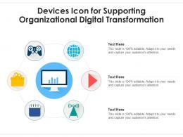 Devices Icon For Supporting Organizational Digital Transformation