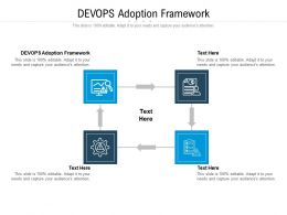 DEVOPS Adoption Framework Ppt Powerpoint Presentation Summary Display Cpb