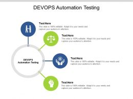 DEVOPS Automation Testing Ppt Powerpoint Presentation Background Image Cpb