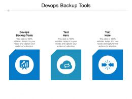 Devops Backup Tools Ppt Powerpoint Presentation Layouts Mockup Cpb