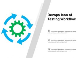 Devops Icon Of Testing Workflow