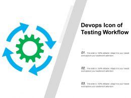 Devops Icon Of Testing Workflow