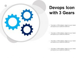 Devops Icon With 3 Gears