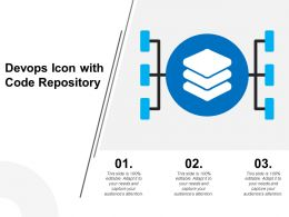 Devops Icon With Code Repository