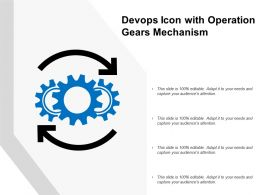 Devops Icon With Operation Gears Mechanism