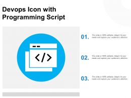 Devops Icon With Programming Script