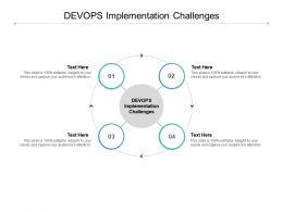 DEVOPS Implementation Challenges Ppt Powerpoint Presentation Ideas Format Cpb