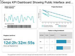Devops Kpi Dashboard Showing Public Interface And Project Burndown