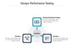 Devops Performance Testing Ppt Powerpoint Presentation Slides Professional Cpb