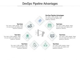 DevOps Pipeline Advantages Ppt Powerpoint Presentation Ideas Aids Cpb