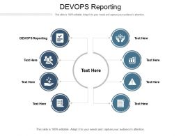 DEVOPS Reporting Ppt Powerpoint Presentation Pictures Slide Cpb
