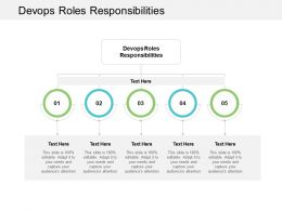 Devops Roles Responsibilities Ppt Powerpoint Presentation Infographics Model Cpb