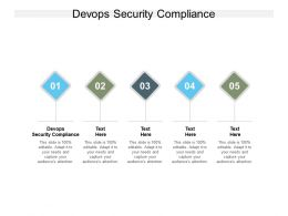 Devops Security Compliance Ppt Powerpoint Presentation Outline Show Cpb