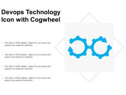 Devops Technology Icon With Cogwheel