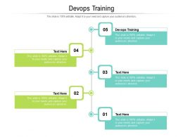 Devops Training Ppt Powerpoint Presentation Summary Microsoft Cpb
