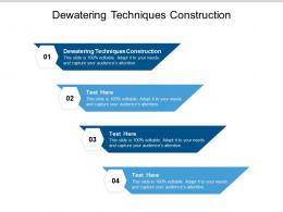 Dewatering Techniques Construction Ppt Powerpoint Presentation Outline Rules Cpb