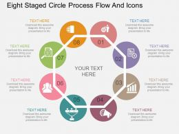 df Eight Staged Circle Process Flow And Icons Flat Powerpoint Design