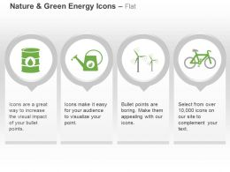 Df Nature And Green Icons Ductbin Sprinkler Wind Mill And Recycle Ppt Icons Graphics