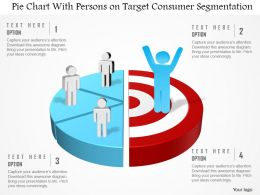 Df Pie Chart With Persons On Target Consumer Segmentation Powerpoint Template