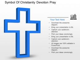 Df Symbol Of Christianity Devotion Pray Powerpoint Template
