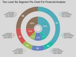df Two Level Six Segment Pie Chart For Financial Analysis Flat Powerpoint Design