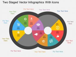 Df Two Staged Vector Infographics With Icons Flat Powerpoint Design