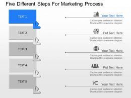 dg Five Different Steps For Marketing Process Powerpoint Template
