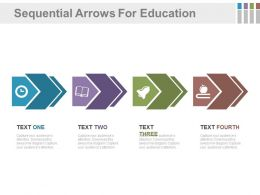 dg Four Staged Sequential Arrows For Education Flat Powerpoint Design