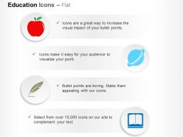 Dg Red Apple Feather Jupiter Book Ppt Icons Graphics
