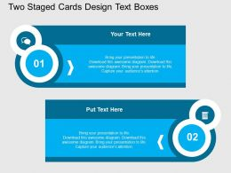dg Two Staged Cards Design Text Boxes Flat Powerpoint Design