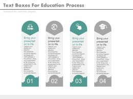 dh Four Staged Text Boxes For Education Process Flat Powerpoint Design