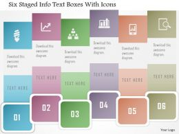 Dh Six Staged Info Text Boxes With Icons Powerpoint Template