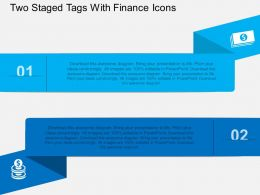 dh Two Staged Tags With Finance Icons Flat Powerpoint Design