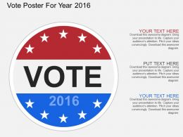 Dh Vote Poster For Year 2016 Flat Powerpoint Design