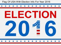 di Flag Of USA With Election Info For Year 2016 Flat Powerpoint Design