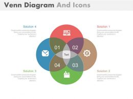 di Four Staged Venn Diagram And Icons Flat Powerpoint Design