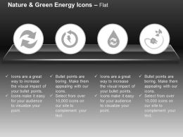 Di Recycle And Green Energy Icons With Plug And Water Safety Ppt Icons Graphics