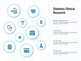 Diabetes Clinical Research Ppt Powerpoint Presentation Model Layout