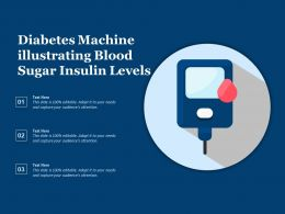 Diabetes Machine Illustrating Blood Sugar Insulin Levels